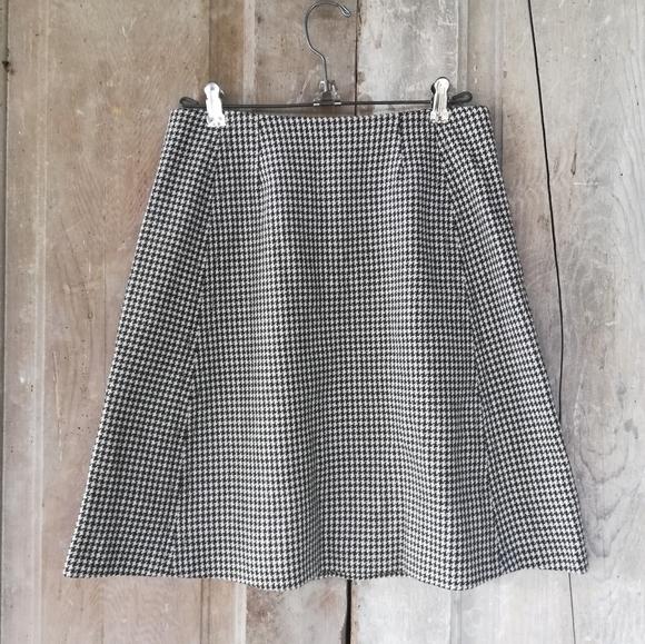 Vintage Brown Houndstooth Skirt